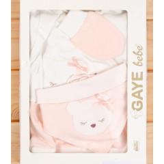 Βρεφικό σετ νεογέννητου 5τμχ. αρκουδάκι 505760 ανοιχτό ροζ