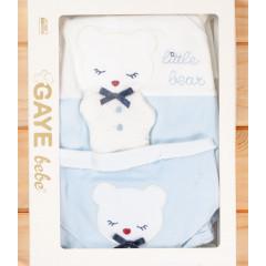 Βρεφικό σετ νεογέννητου 5τμχ. αρκουδάκι 505760 μπλε