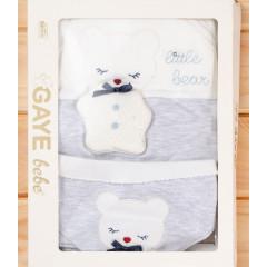 Βρεφικό σετ νεογέννητου 5τμχ. αρκουδάκι 505760  γκρι