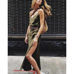 Γυναικείο φόρεμα 9432 σκούρο πράσινο