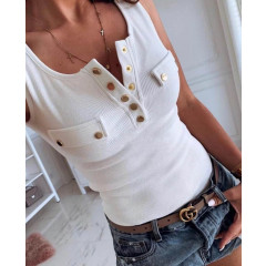 Γυναικείο αμάνικο μπλούζακι 19579 λευκό