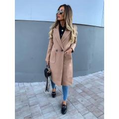 Γυναικείο μακρύ παλτό 1314 μπεζ