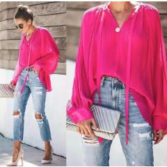 Γυναικεία μπλούζα σολέϊ 3717 φούξια