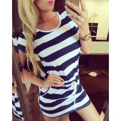 Γυναικείο θαλασσινό φόρεμα 12299 μπλε