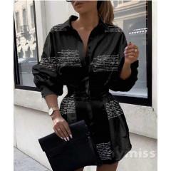 Γυναικεία πουκαμίσα 398301 μαύρη