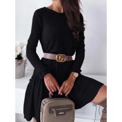 Γυναικείο χαλαρό φόρεμα 3749 μαύρο