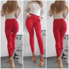 Γυναικείο παντελόνι 151501 κόκκινο