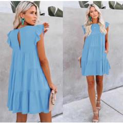 Γυναικείο χαλαρό φόρεμα 5095 γαλάζιο