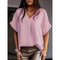 Γυναικεία χαλαρή μπλούζα 5597 ροζ