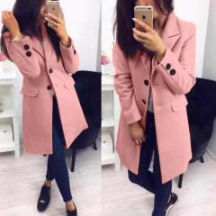 Γυναικείο στιλάτο παλτό 19688 ροζ