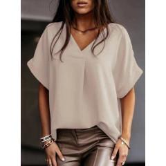 Γυναικεία χαλαρή μπλούζα 5597 μπεζ