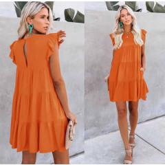 Γυναικείο χαλαρό φόρεμα 5095 πορτοκαλί