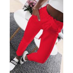 Γυναικείο παντελόνι 18069 κόκκινο