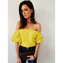 Γυναικεία έξωμη μπλούζα 5003 κίτρινη