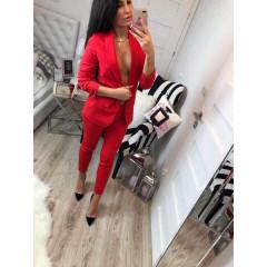 Γυναικείο σετ  01707 κόκκινο