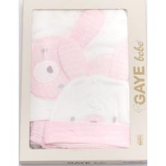 Βρεφικό σετ για νεογέννητο 5 τμχ. 50500762 ροζ