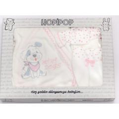 Βρεφικό σετ για νεογέννητο 5 τμχ. 5050305 ροζ
