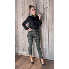 Γυναικείο παντελόνι βράκα 6293 σκούρο πράσινο