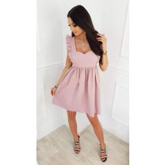 Γυναικείο φόρεμα με εντυπωσιακές τιράντες 5135 ροζ