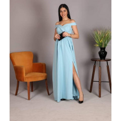 Γυναικείο φόρεμα 8049 γαλάζιο