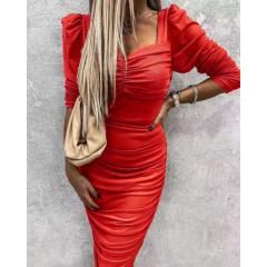 Γυναικείο φόρεμα 26991 κόκκινο