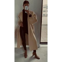 Παλτό χωρίς φόδρα 20911 καμηλό