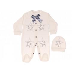 Βρεφική ολόσωμη φόρμα 5051521 άσπρη
