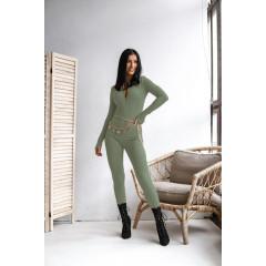 Εφαρμοστή ολόσωμη φόρμα 34951 σκούρο πράσινο