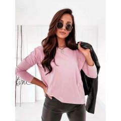 Γυναικεία απλή μπλούζα 14035 ροζ