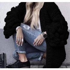 Γυναικεία ζακέτα 7107 μαύρη