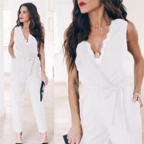 Γυναικεία ολόσωμη φόρμα 3673 άσπρη