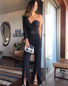 Γυναικεία ολόσωμη φόρμα με ένα μανίκι 2038