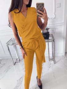 Γυναικεία ολόσωμη φόρμα 3722 κίτρινη