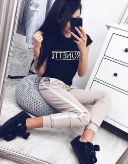 Γυναικείο κοντομάνικο μπλουζάκι  730503 Brunette