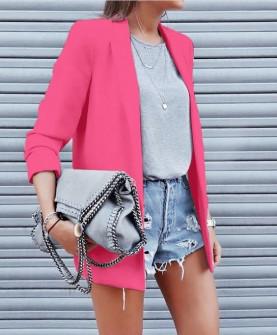 Γυναικείο κομψό σακάκι με φόδρα 3229 φούξια