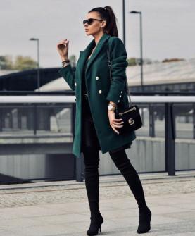 Γυναικείο παλτό 5091 πράσινο