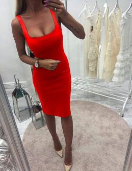 Γυναικείο φόρεμα 3140 κόκκινο