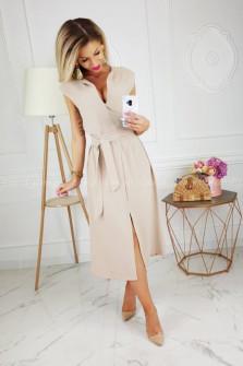 Γυναικείο φόρεμα 3503 μπεζ