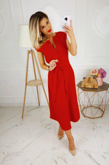 Γυναικείο φόρεμα 3503 κόκκινο