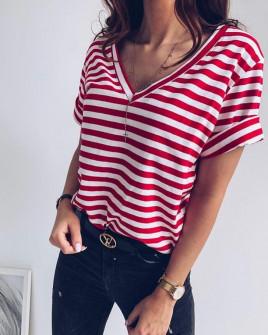 Γυναικείο κοντομάνικο μπλουζάκι 3141 κόκκινο