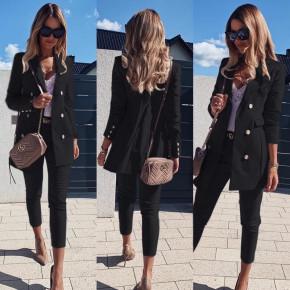 Γυναικείο σετ σακάκι και παντελόνι 3775 μαύρο
