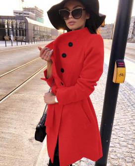 Γυναικείο παλτό 5081 κόκκινο