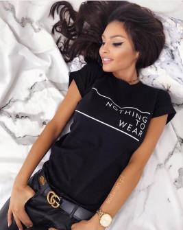 Γυναικείο κοντομάνικο μπλουζάκι 730512 μαύρο