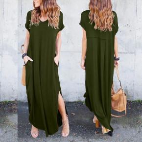 Γυναικείο φόρεμα 7503 πράσινο σκούρο