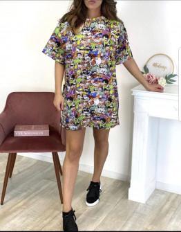 Γυναικείο μπλουζοφόρεμα 231403