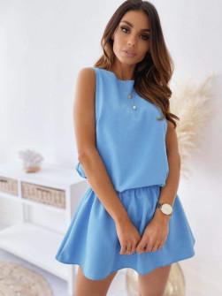 Γυναικείο κοντό φόρεμα 2325 γαλάζιο