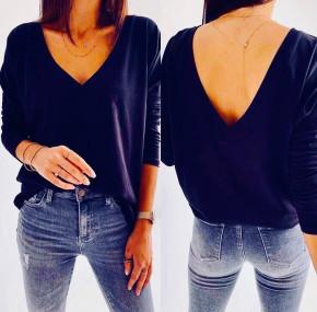 Γυναικεία μπλούζα 3376 σκούρο μπλε