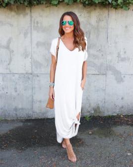 Γυναικείο φόρεμα 7503 λευκό