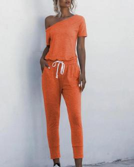 Γυναικεία αθλητική ολόσωμη φόρμα 2194 πορτοκαλί