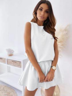 Γυναικείο κοντό φόρεμα 2325 άσπρο